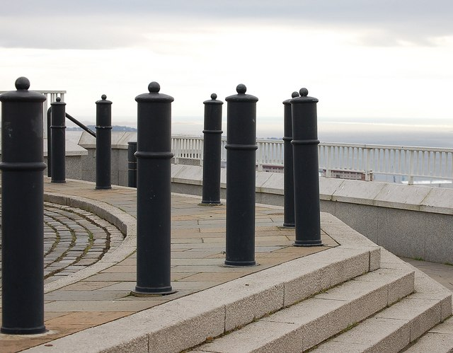 Bollards and steps