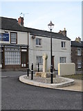 SW7341 : Ancient cross in Carharrack village centre by Rod Allday