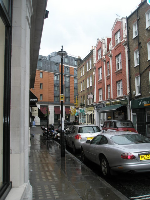 A very wet Marylebone Lane