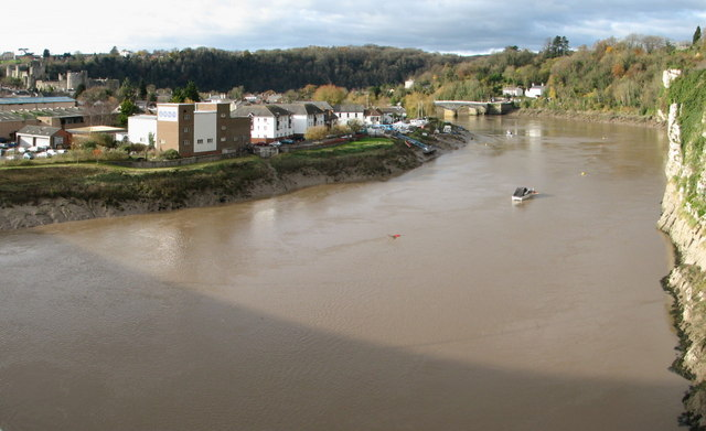 Lower Chepstow and the river Wye