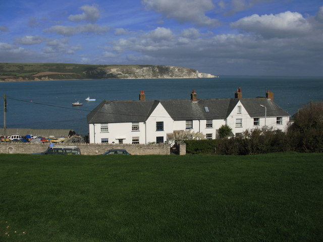 Houses overlooking Swanage Bay