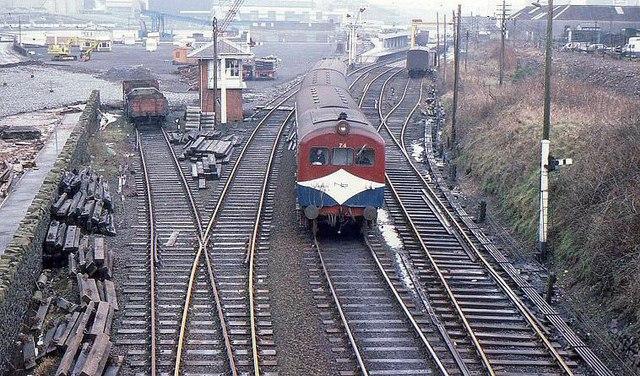Larne Harbour Station 1980 169 Albert Bridge Cc By Sa 2 0