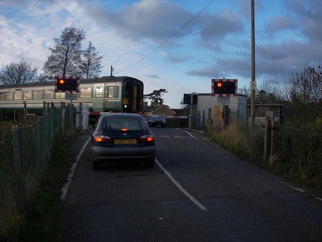 Six mile bottom railway crossing