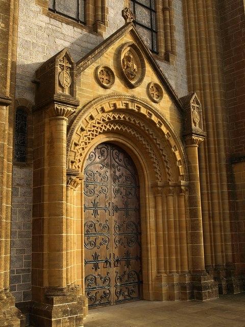 West door of Buckfast Abbey & West door of Buckfast Abbey © Derek Harper :: Geograph Britain and ...