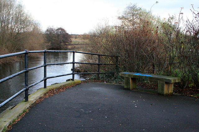 A bench by the River Derwent