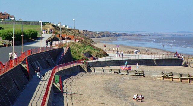 Hornsea Beach, sea defences and clay cliffs