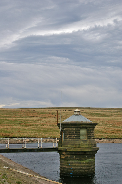 Outfall tower - Gorple Lower Reservoir