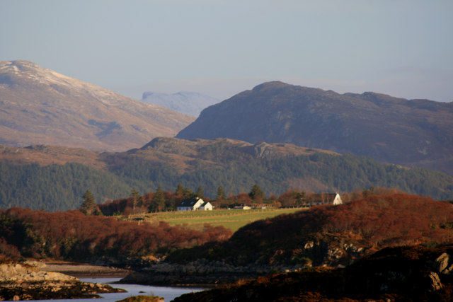 View to south of Camas Dubh-aird