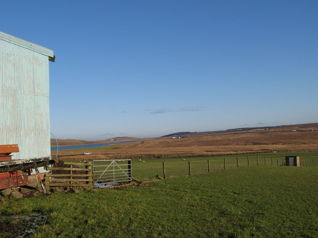 Barn, reservoir, moorland and 'nearly' a windfarm