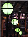 NZ2463 : Lamps in Newcastle Central station : Week 47