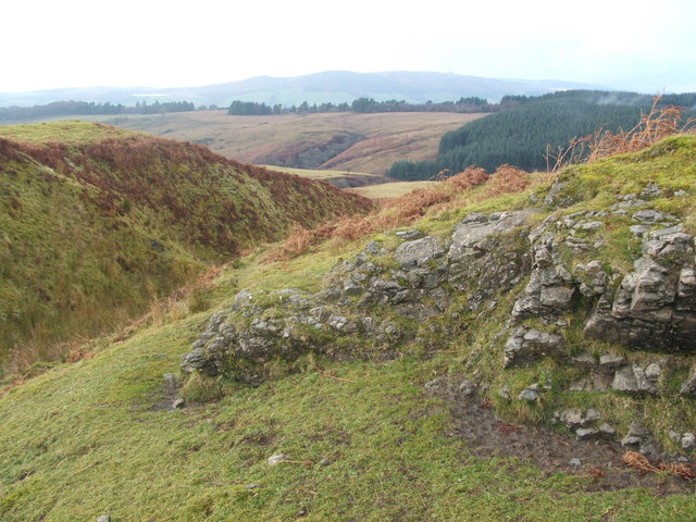 Rock outcrop in Hazel Glen