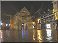 SJ4912 : Shrewsbury Market Hall by night by Stephen Craven