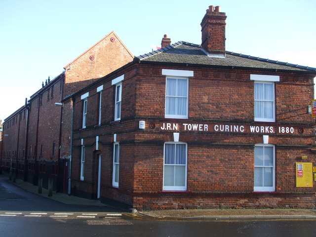 The old curing works at Great Yarmouth