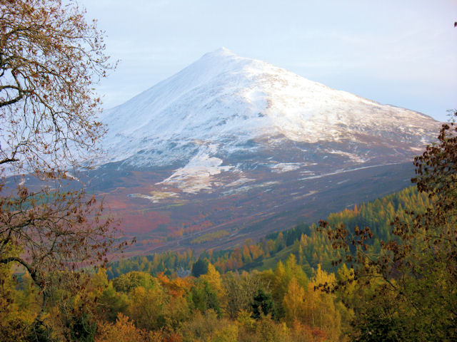 Schiehallion from above Kinloch Rannoch village