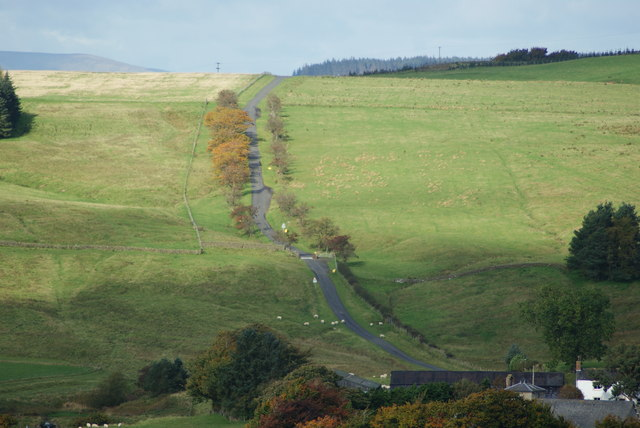 The road north out of Bewcastle