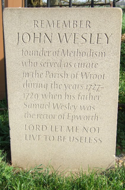 John Wesley Memorial at Wroot