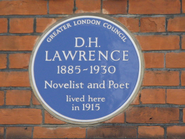 Plaque on house in Byron Villas, Vale of Health, NW3