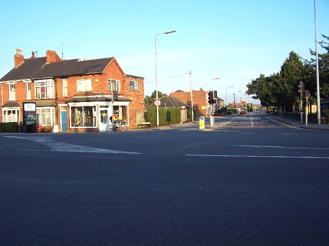 Moor Lane and Newark Road junction