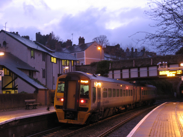 Conwy station at dusk