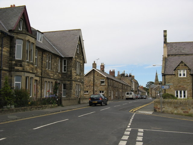 Main Street in Alnmouth seen from the South