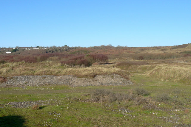 Old workings just to the north of Traeth yr Afon