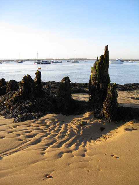 Remains of an old groyne
