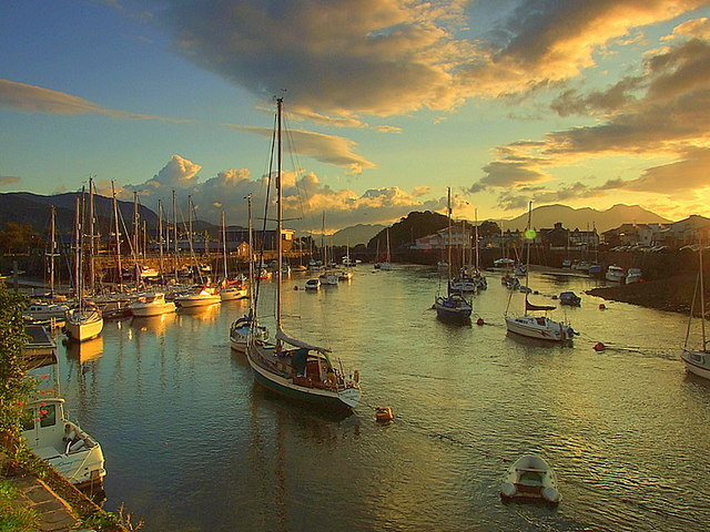 Dawn over Porthmadog Harbour
