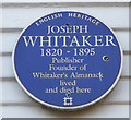 Photo of Joseph Whitaker blue plaque
