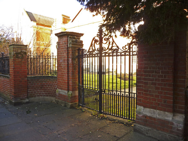 Entrance to Enfield County School, Holly Walk, Enfield