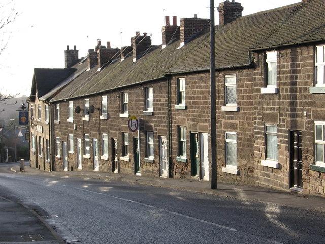Belper - terrace on Chesterfield Road