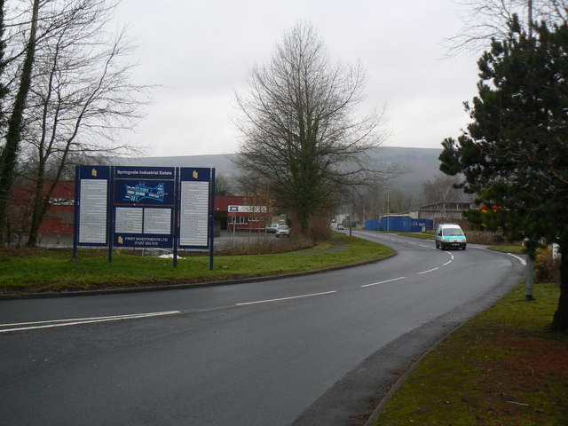 Springvale Industrial Estate in Cwmbran