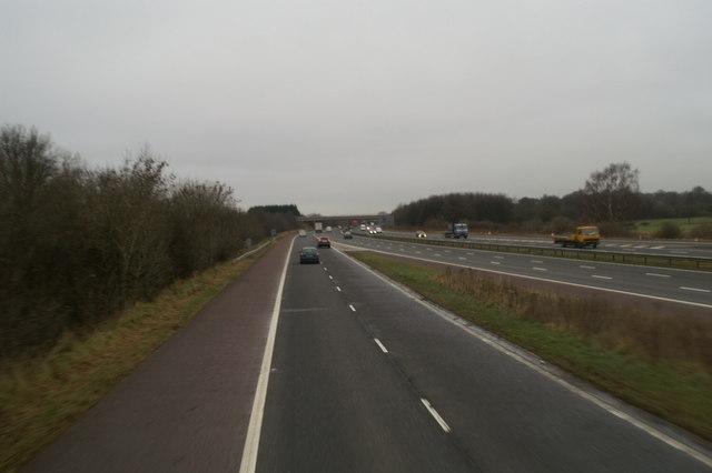 Junction 8, M61, northbound