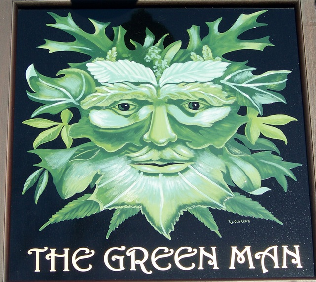 Sign for the Green Man, King's Stag