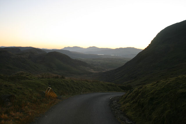 Track leading down from the Manod Quarries