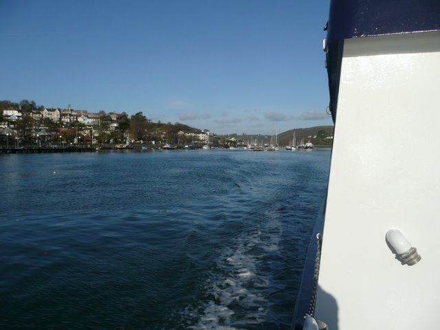 Crossing the Dart estuary on the passenger ferry