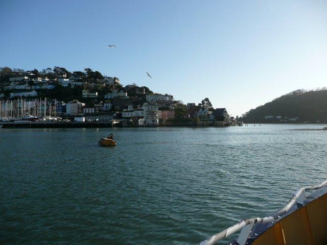 Approaching Kingswear by ferry
