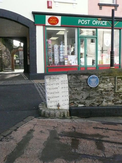 Post Office and Mile Post, Kingswear
