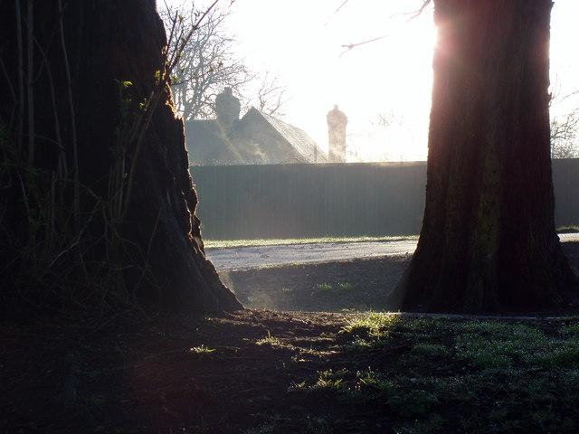 Leamington Victoria Park in Winter