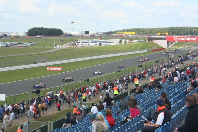 Gp2 formation lap on the hangar straight david ashcroft cc by sa 2 0 geograph britain and - Hangar straight silverstone ...