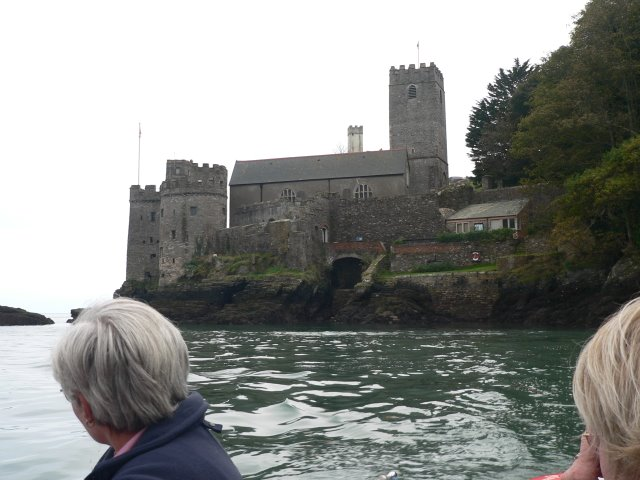 Leaving Dartmouth Castle and St Petrock's Church on the summer ferry