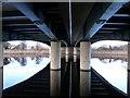 NZ4415 : Jubilee Bridge from below by Graham Scarborough