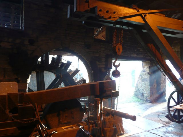 Inside view of the 18th Century Wortley Top Iron Works
