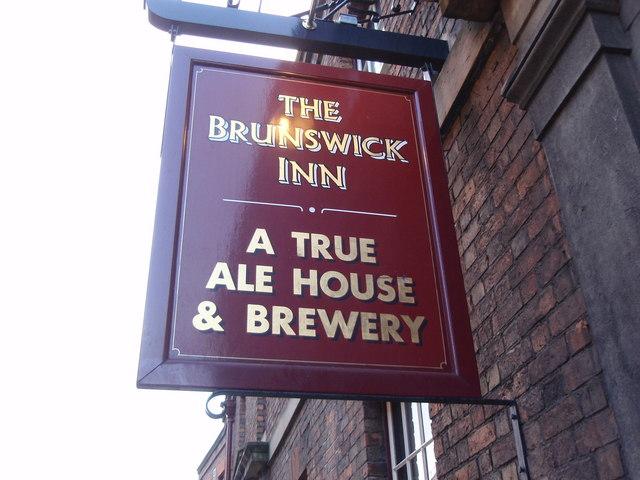 pub sign of the brunswick inn railway james haynes. Black Bedroom Furniture Sets. Home Design Ideas