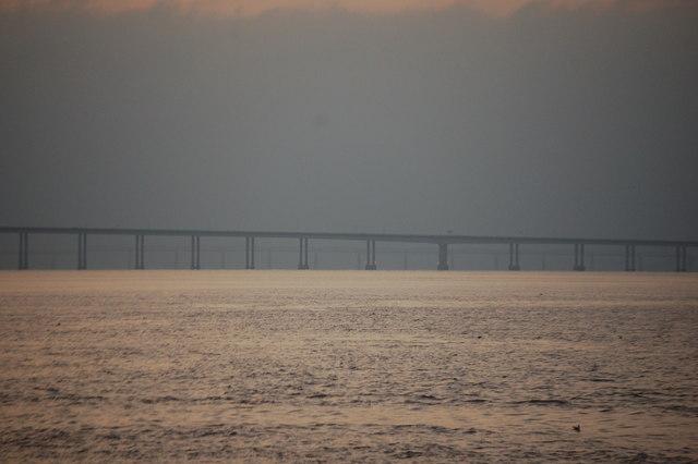 The Tay Road Bridge at sunset