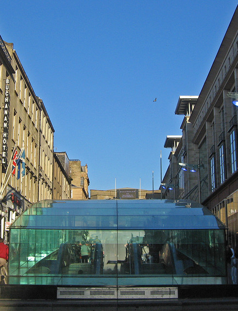 Buchanan Street subway entrance/exit