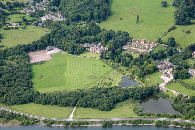 Hopton Hall and shore of Carsington Reservoir