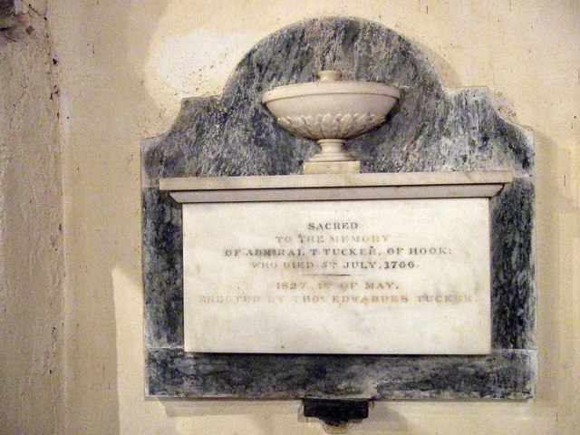 Church memorial to Admiral Tucker