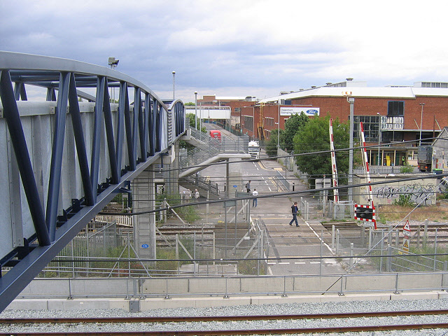 Footbridge superseding a level crossing
