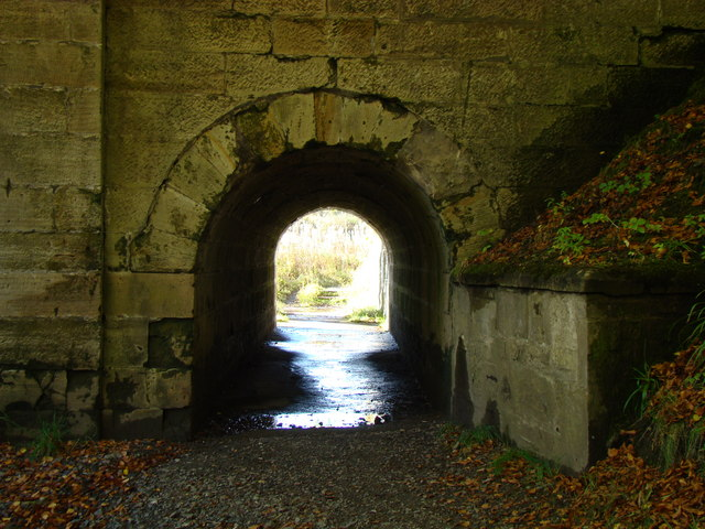 Foot path under Bridge over Calder Water