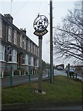 TQ6971 : Shorne Village Sign by David Anstiss